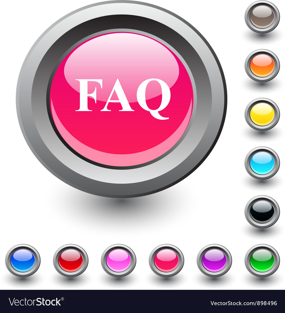 Faq round button vector | Price: 1 Credit (USD $1)