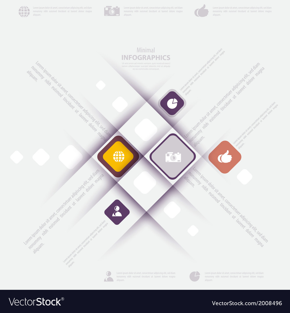Modern infographic template with icons for vector | Price: 1 Credit (USD $1)