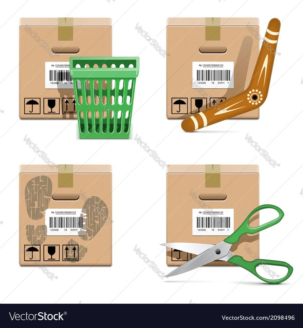 Shipment icons set 33 vector | Price: 1 Credit (USD $1)