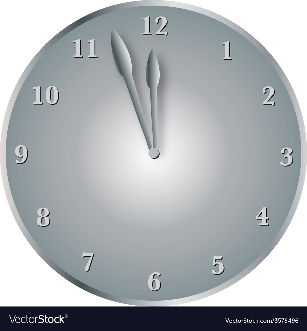Steel clock vector | Price: 1 Credit (USD $1)