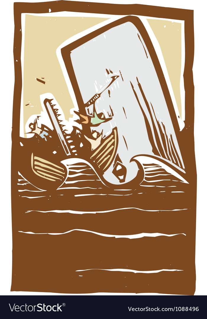 Whaling trouble color vector | Price: 1 Credit (USD $1)