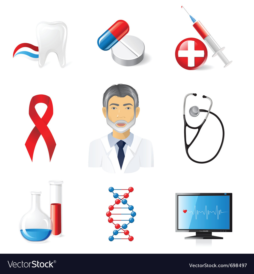 9 highly detailed medical icons set vector | Price: 3 Credit (USD $3)