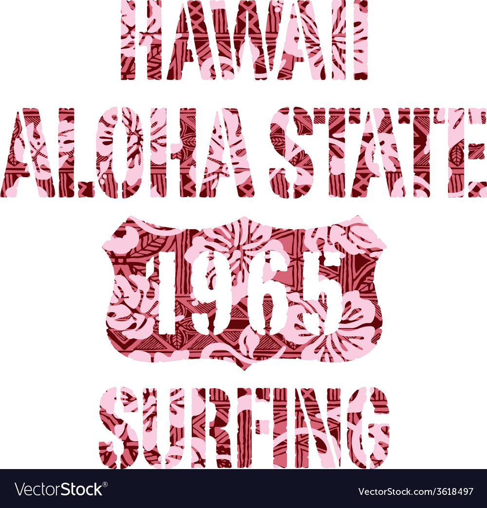 Aloha state surfing vector | Price: 1 Credit (USD $1)