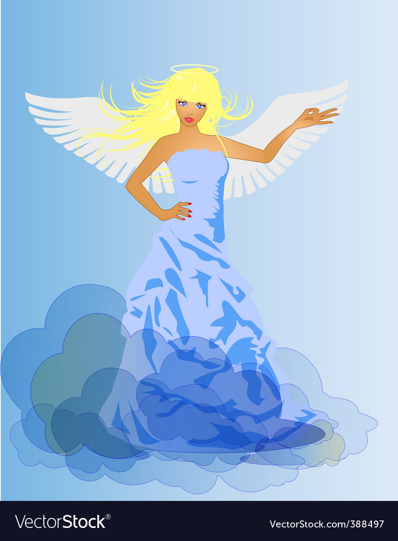Angel and devil retro woman vector | Price: 1 Credit (USD $1)