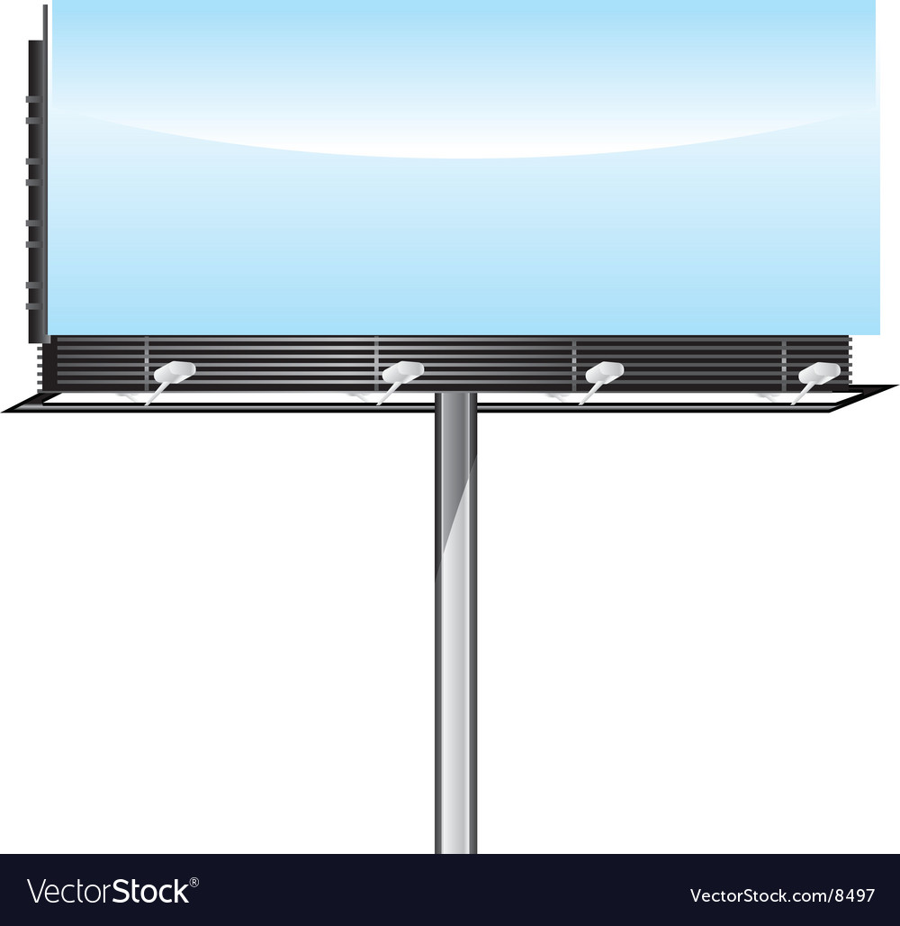Blank billboard vector