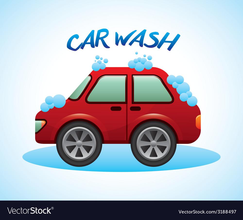 Car wash design vector | Price: 1 Credit (USD $1)