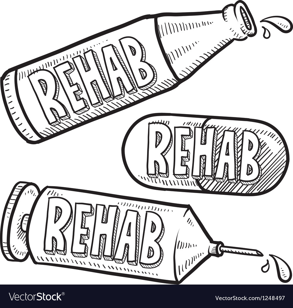 Drugs and alcohol rehab vector | Price: 1 Credit (USD $1)