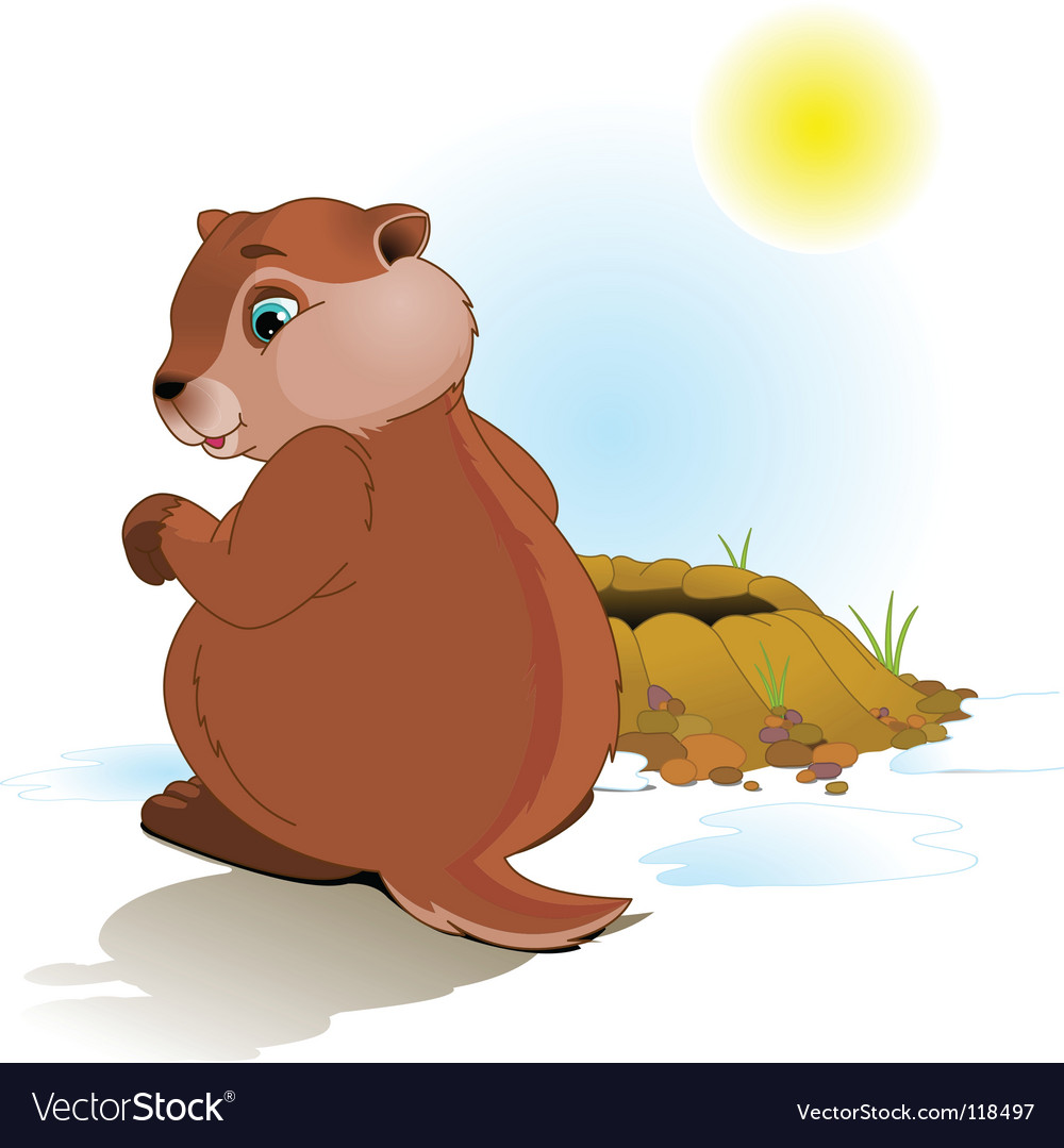 Groundhog day vector | Price: 1 Credit (USD $1)