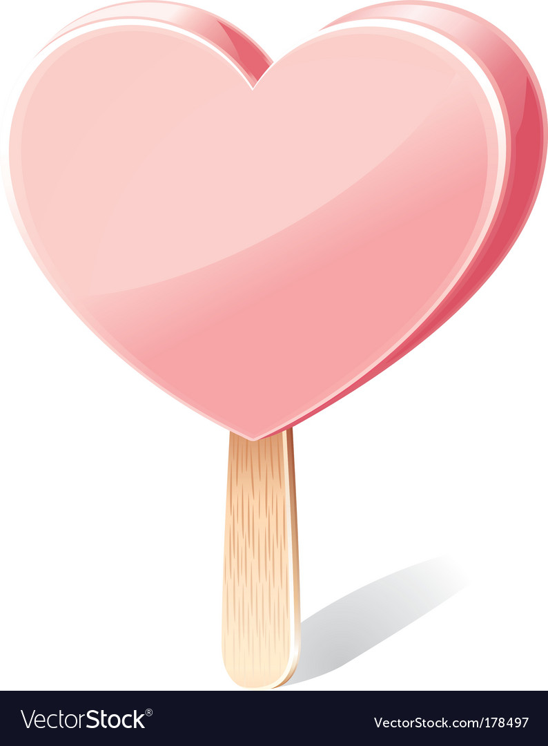 Heart shaped ice cream vector | Price: 1 Credit (USD $1)