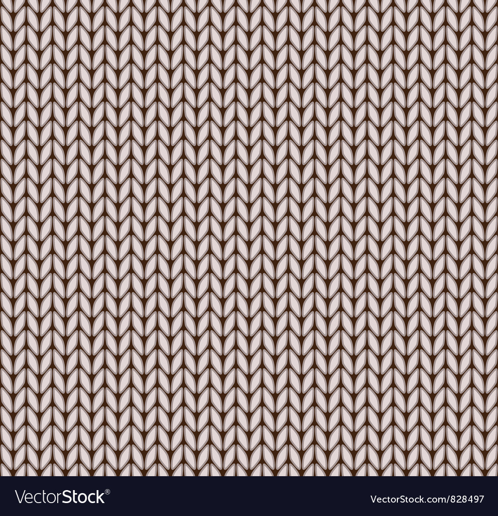 Seamless knitted pattern vector | Price: 1 Credit (USD $1)