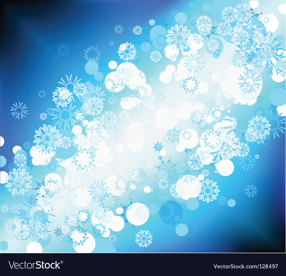 Snow flake background vector | Price: 1 Credit (USD $1)