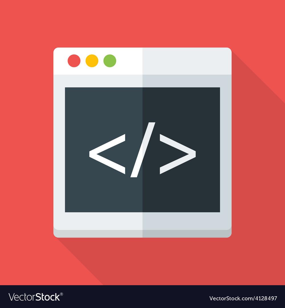 Website coding flat stylized vector | Price: 1 Credit (USD $1)