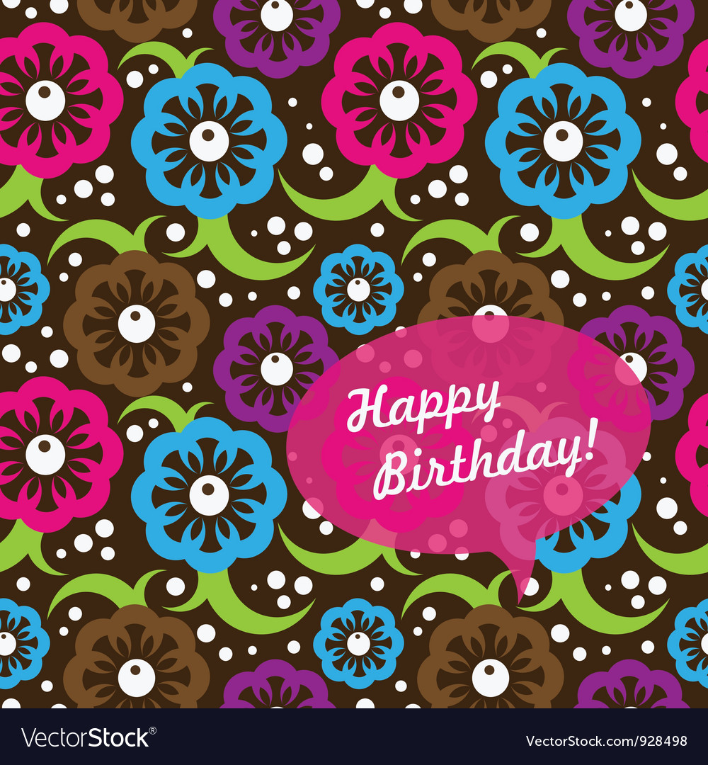 Birthday card seamless pattern vector | Price: 1 Credit (USD $1)