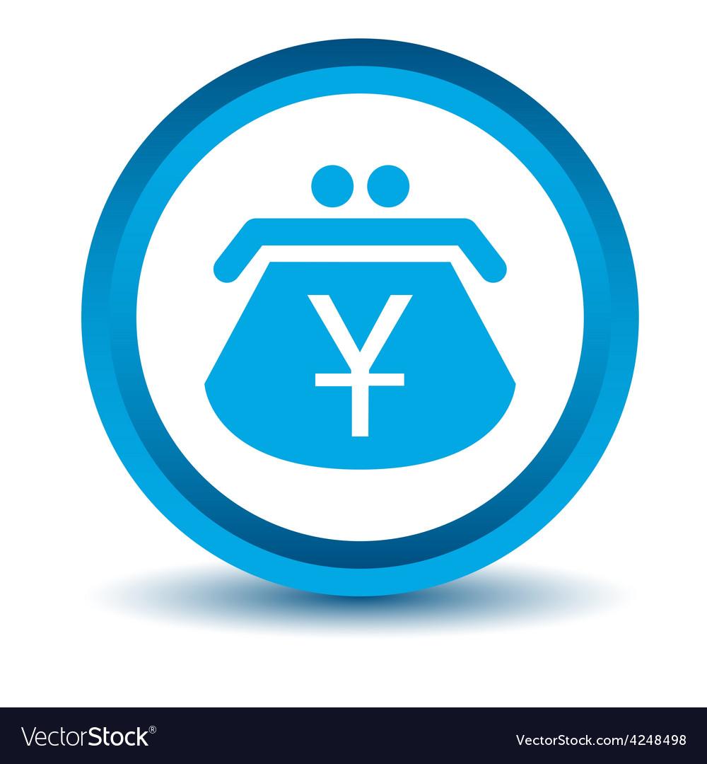Blue yen purse icon vector | Price: 1 Credit (USD $1)