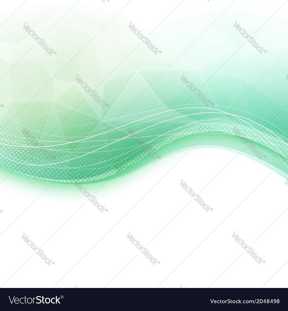 Bright wave crystal green background vector | Price: 1 Credit (USD $1)