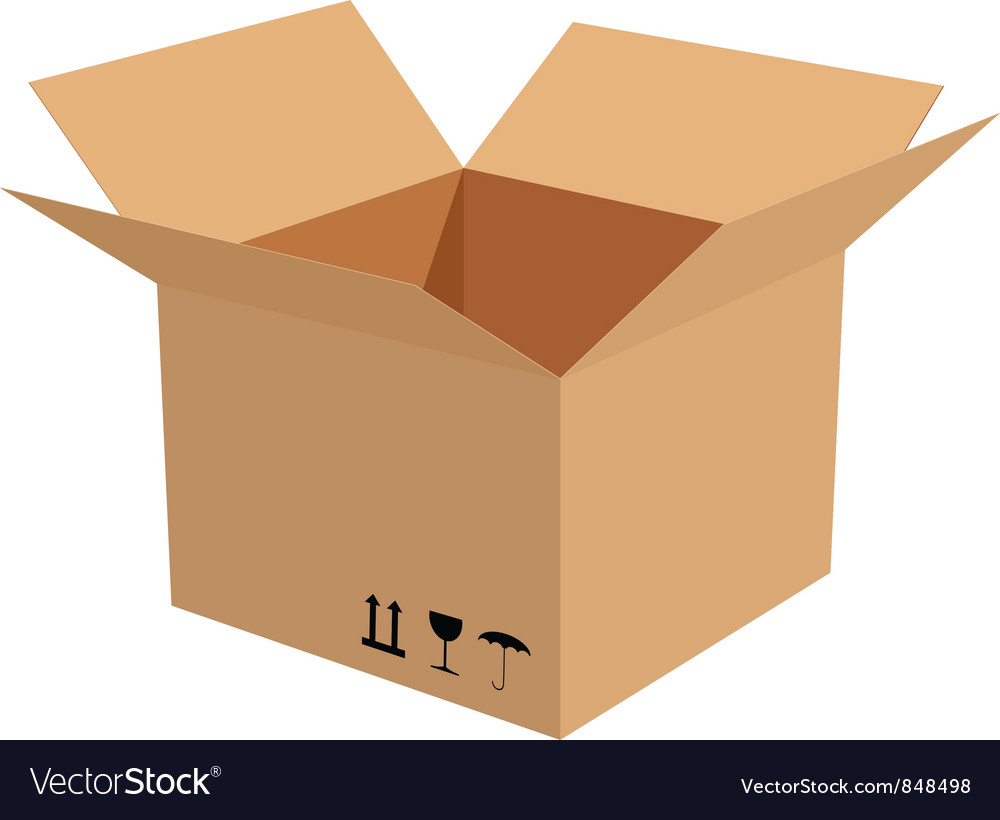 Cardboard box vector | Price: 1 Credit (USD $1)