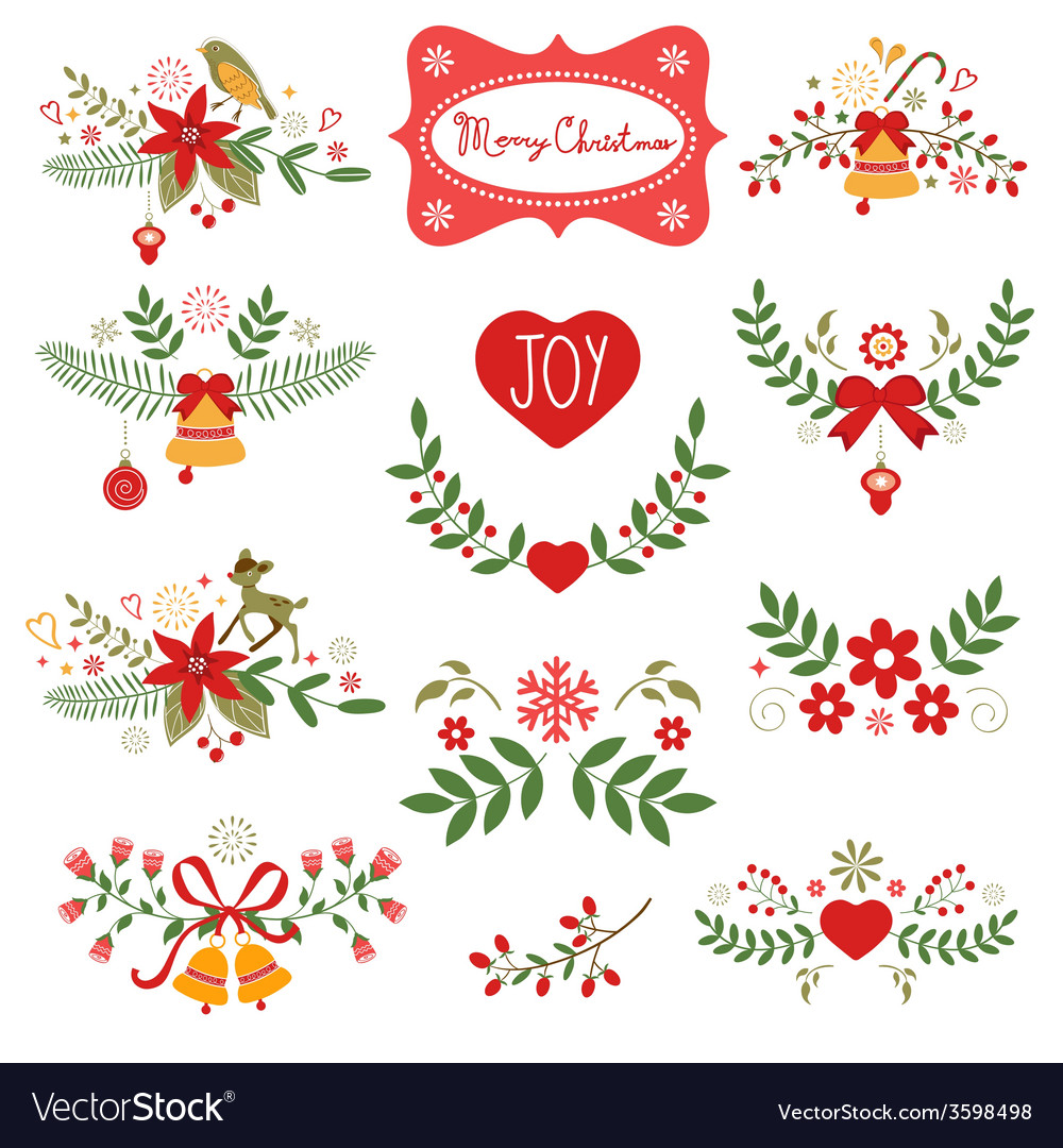 Colorful christmas banners vector | Price: 1 Credit (USD $1)