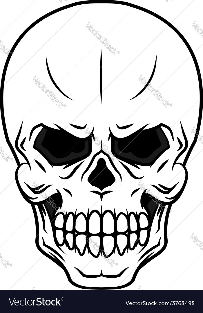 Danger cartoon skull vector | Price: 1 Credit (USD $1)