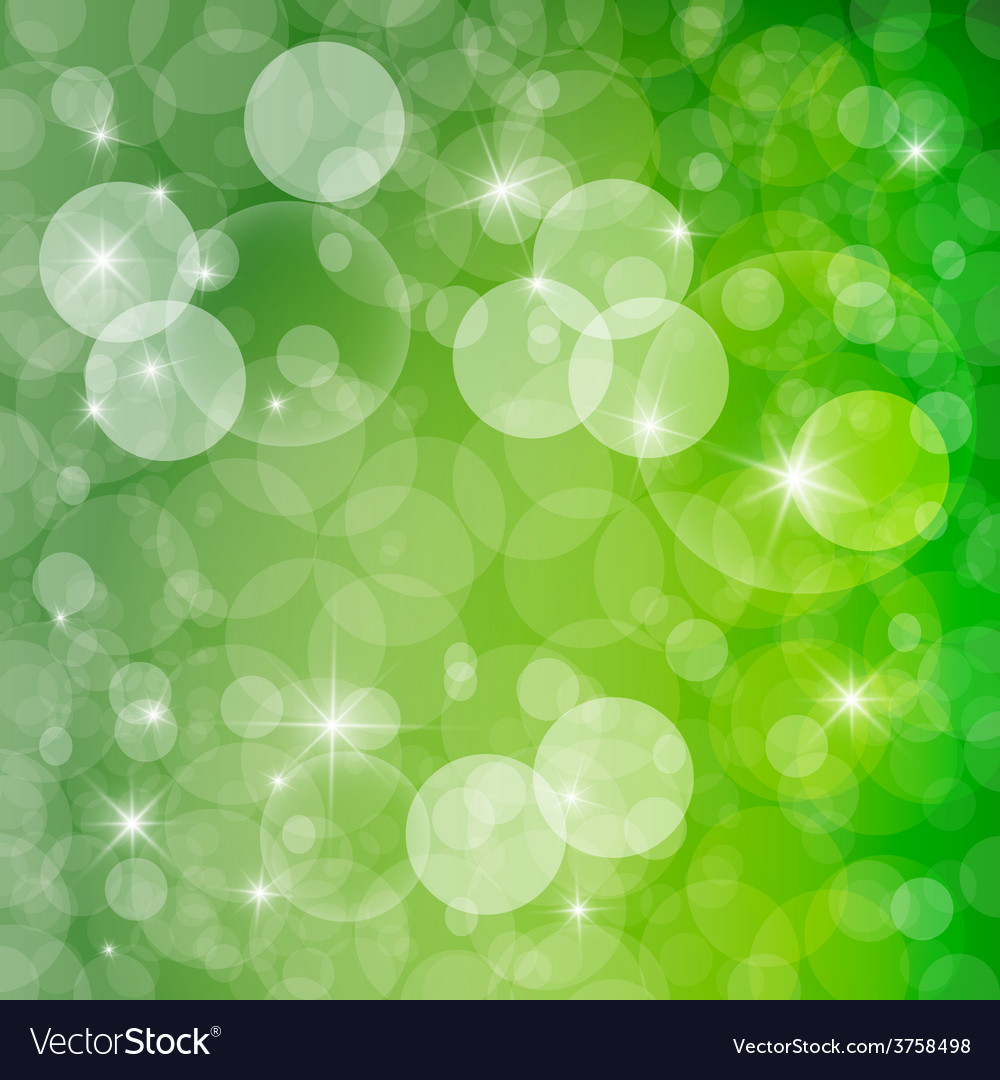 Green abstract spring defocused blurred background vector | Price: 1 Credit (USD $1)