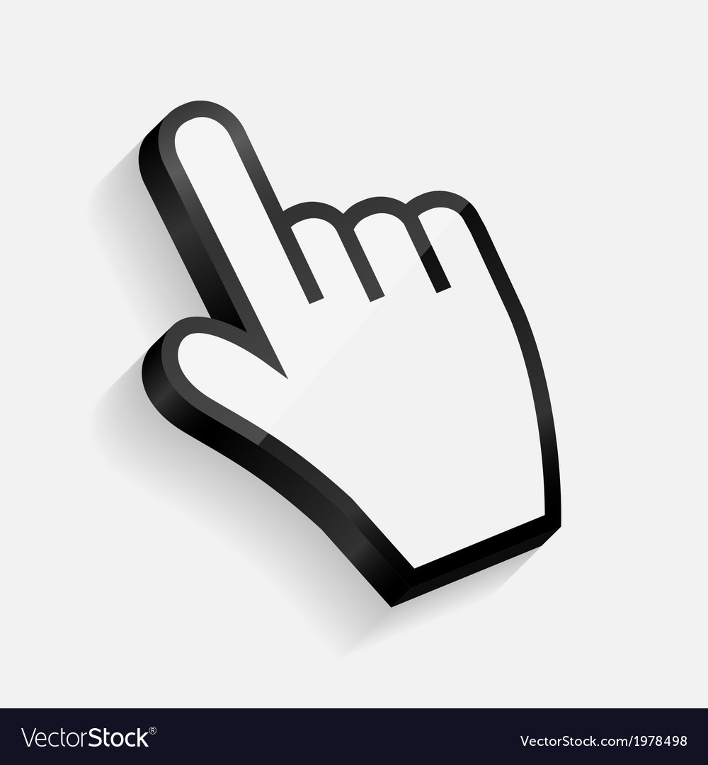 Mouse hand cursor vector | Price: 1 Credit (USD $1)
