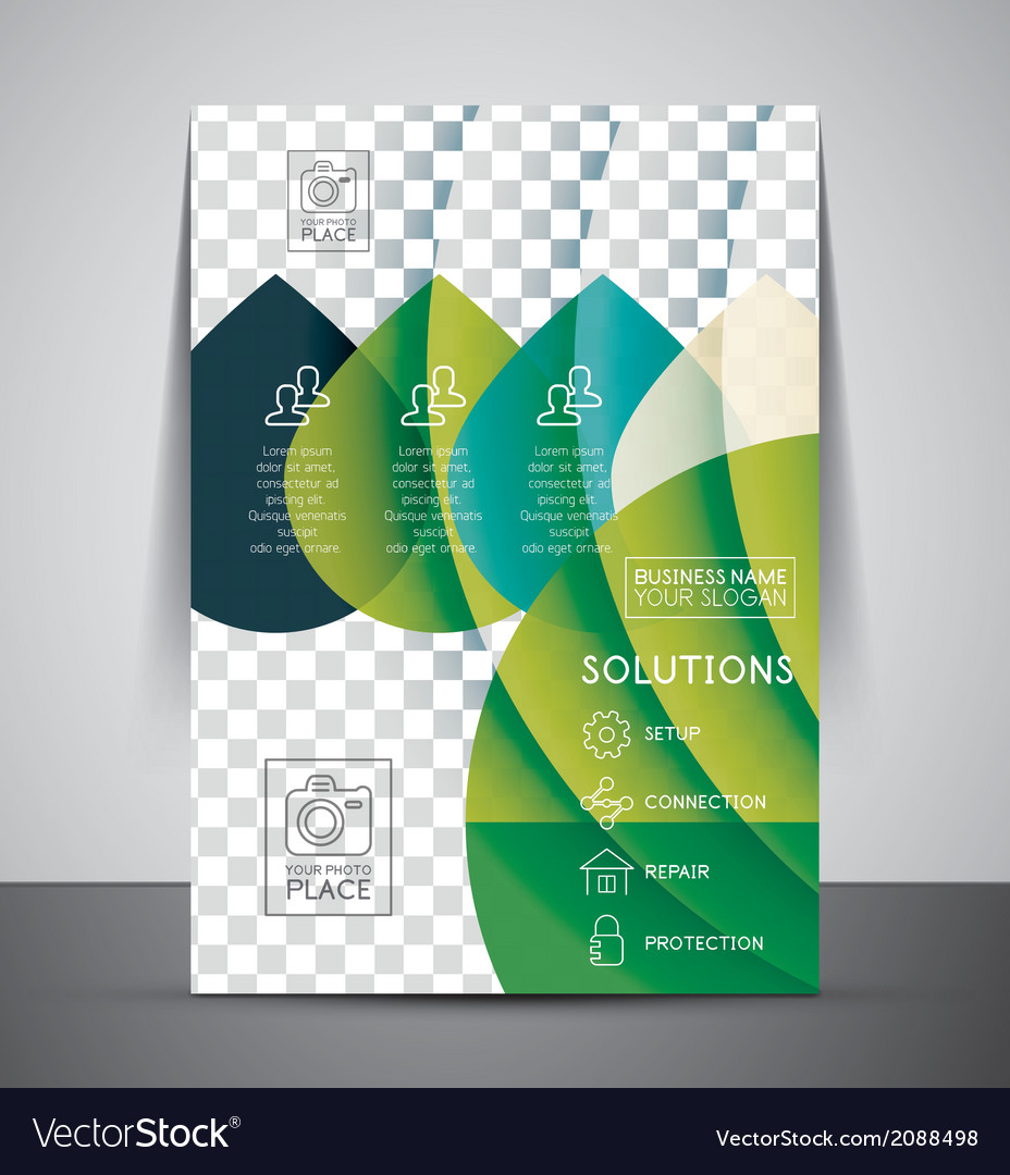 Nature corporate flyer print template vector | Price: 1 Credit (USD $1)