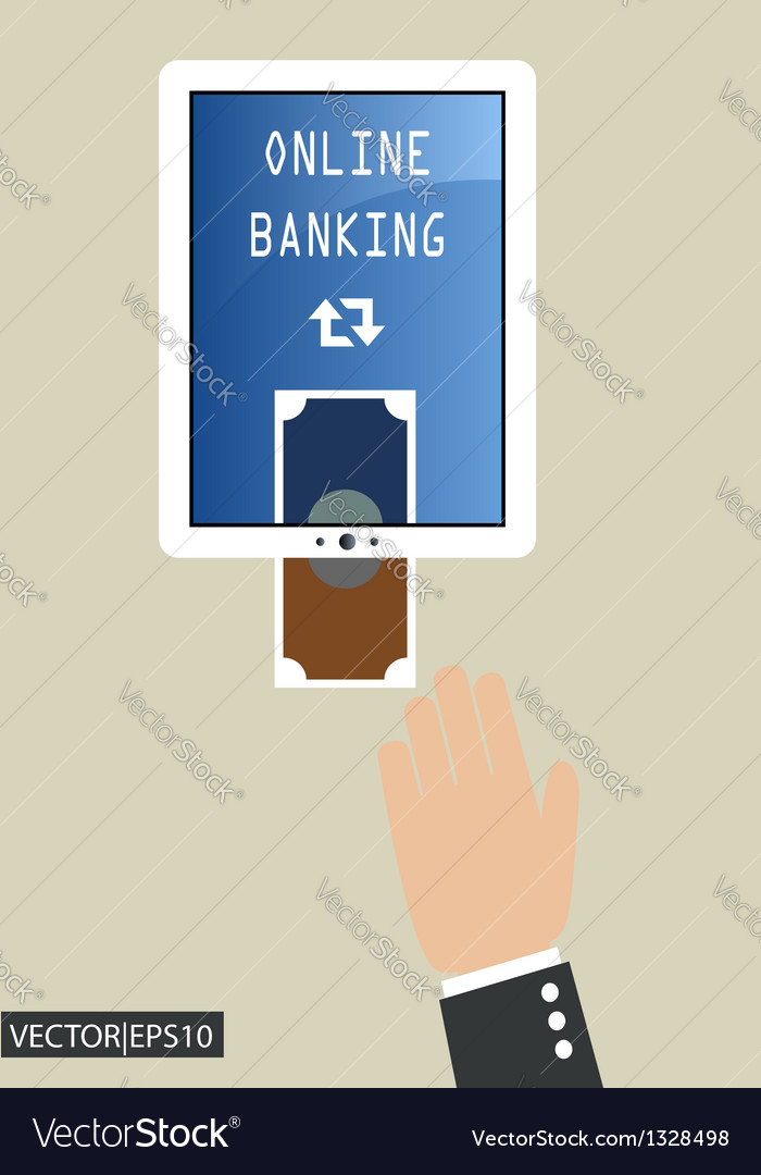 Online banking vector | Price: 1 Credit (USD $1)
