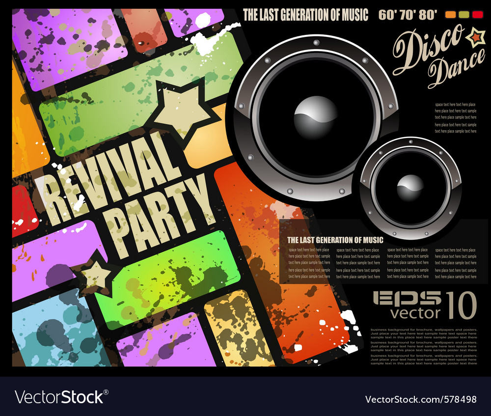 Retro disco party vector | Price: 3 Credit (USD $3)