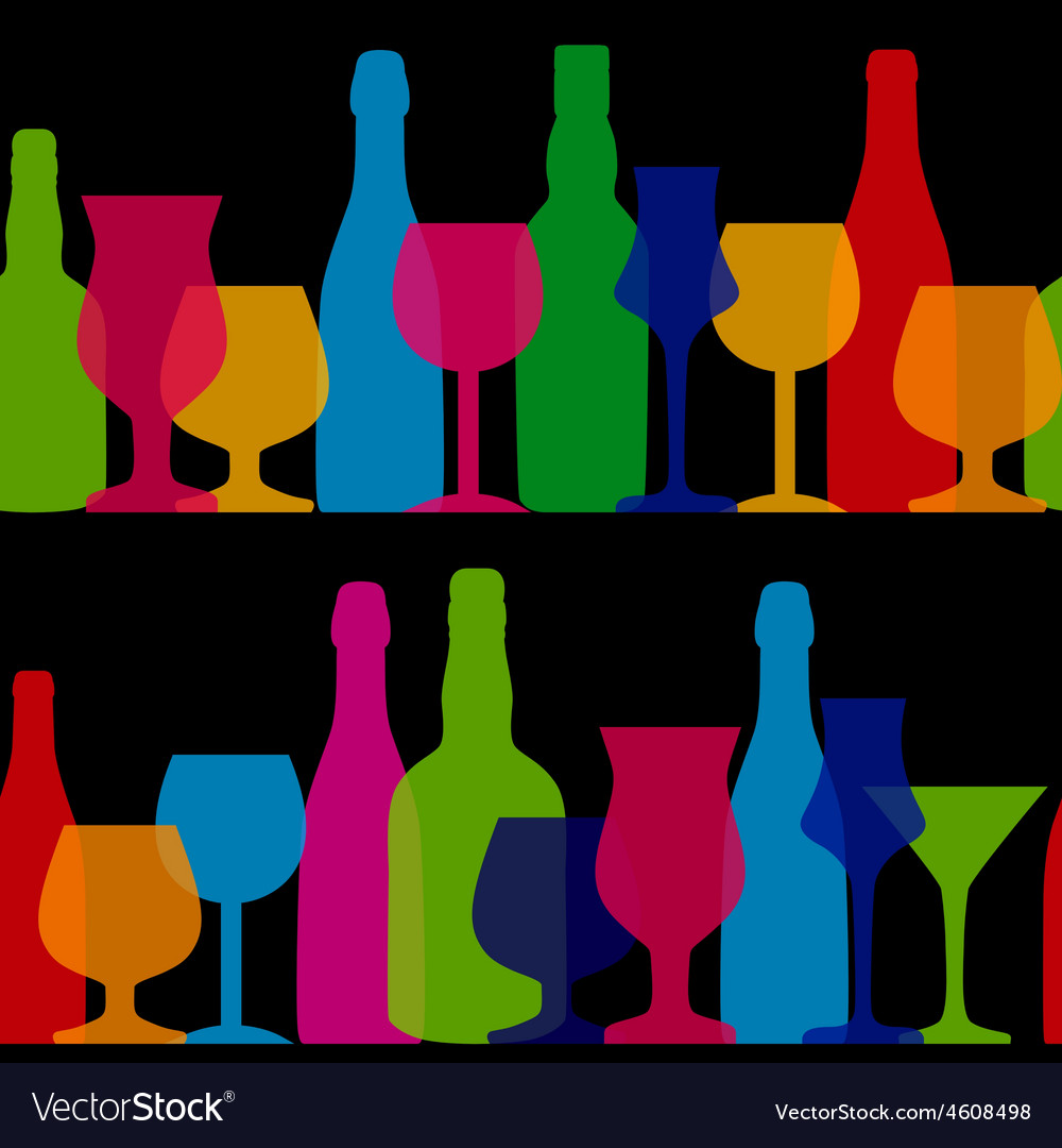 Silhouette alcohol bottle vector | Price: 1 Credit (USD $1)