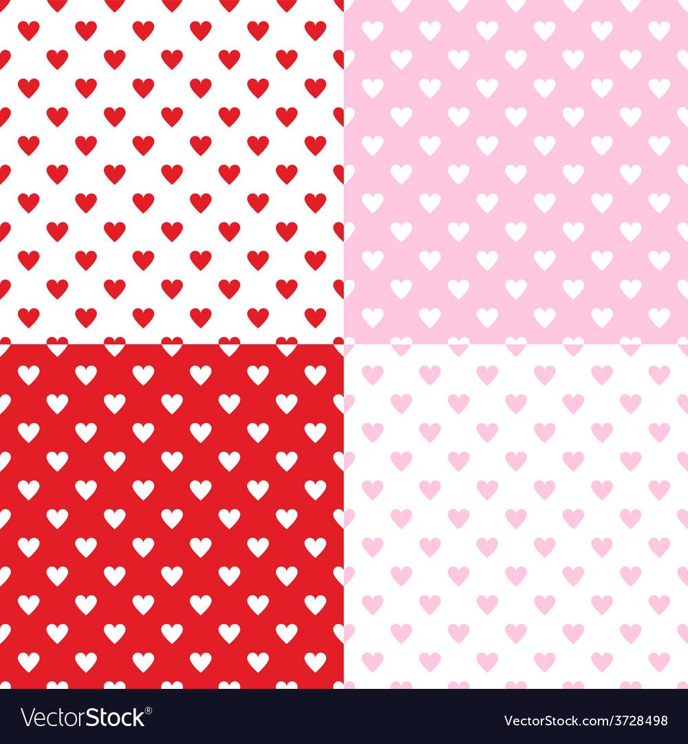 Valentines seamless patterns vector | Price: 1 Credit (USD $1)