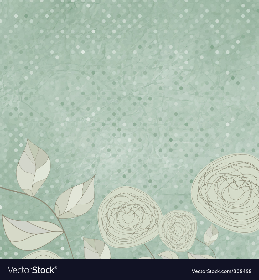Vintage roses background vector | Price: 1 Credit (USD $1)
