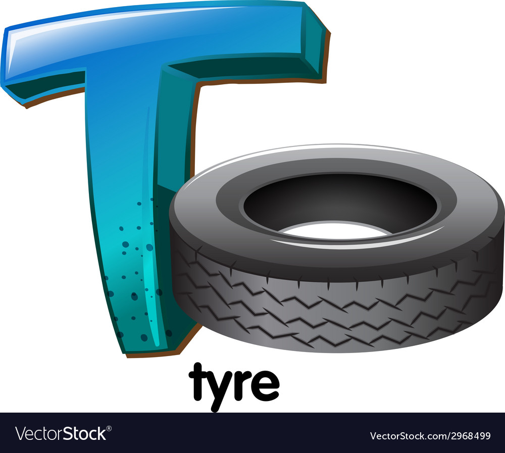 A letter t for tyre vector | Price: 1 Credit (USD $1)
