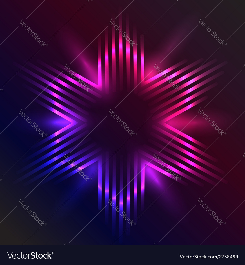 Christmas star formed of beams of purple light vector | Price: 1 Credit (USD $1)