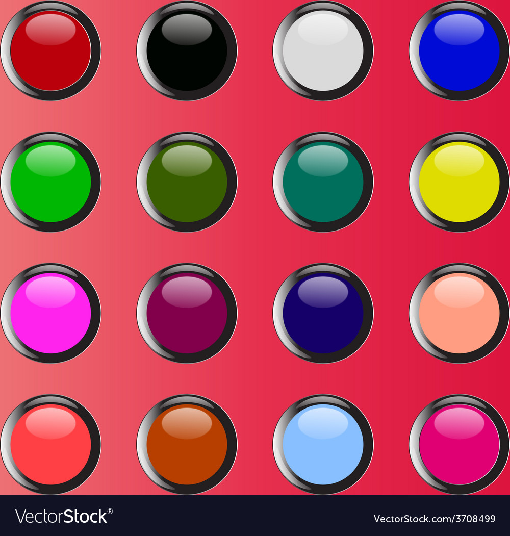 Colorful merry cheery shiny buttons vector | Price: 1 Credit (USD $1)
