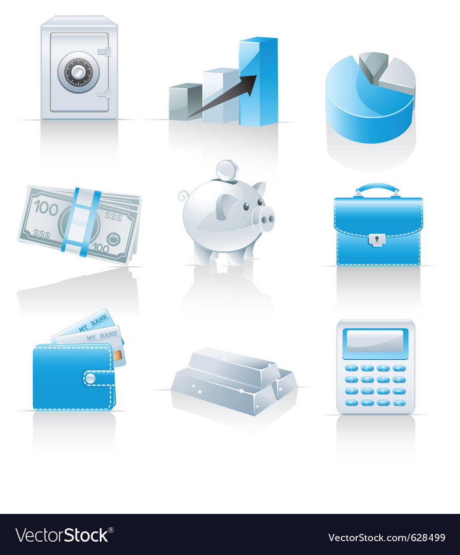 Finance and banking icons vector | Price: 3 Credit (USD $3)