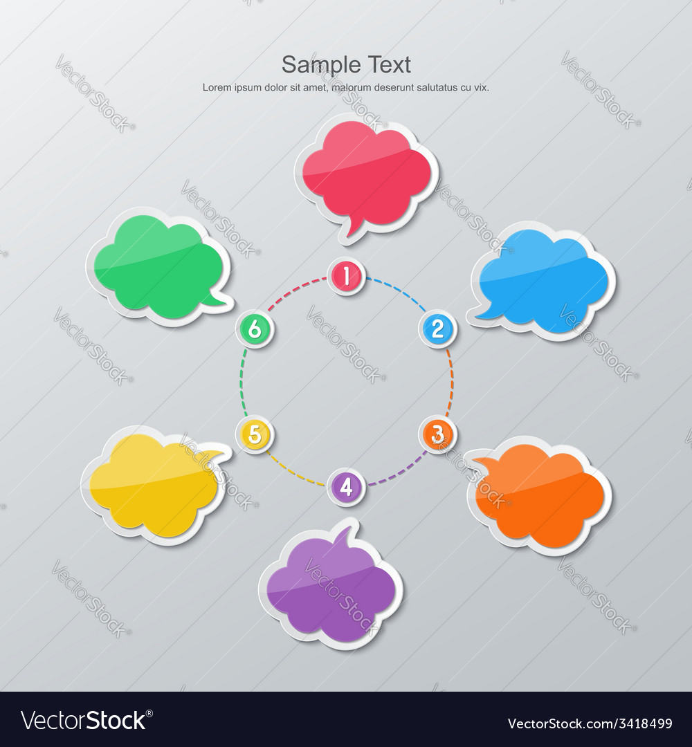 Flat design timeline infographics vector | Price: 1 Credit (USD $1)