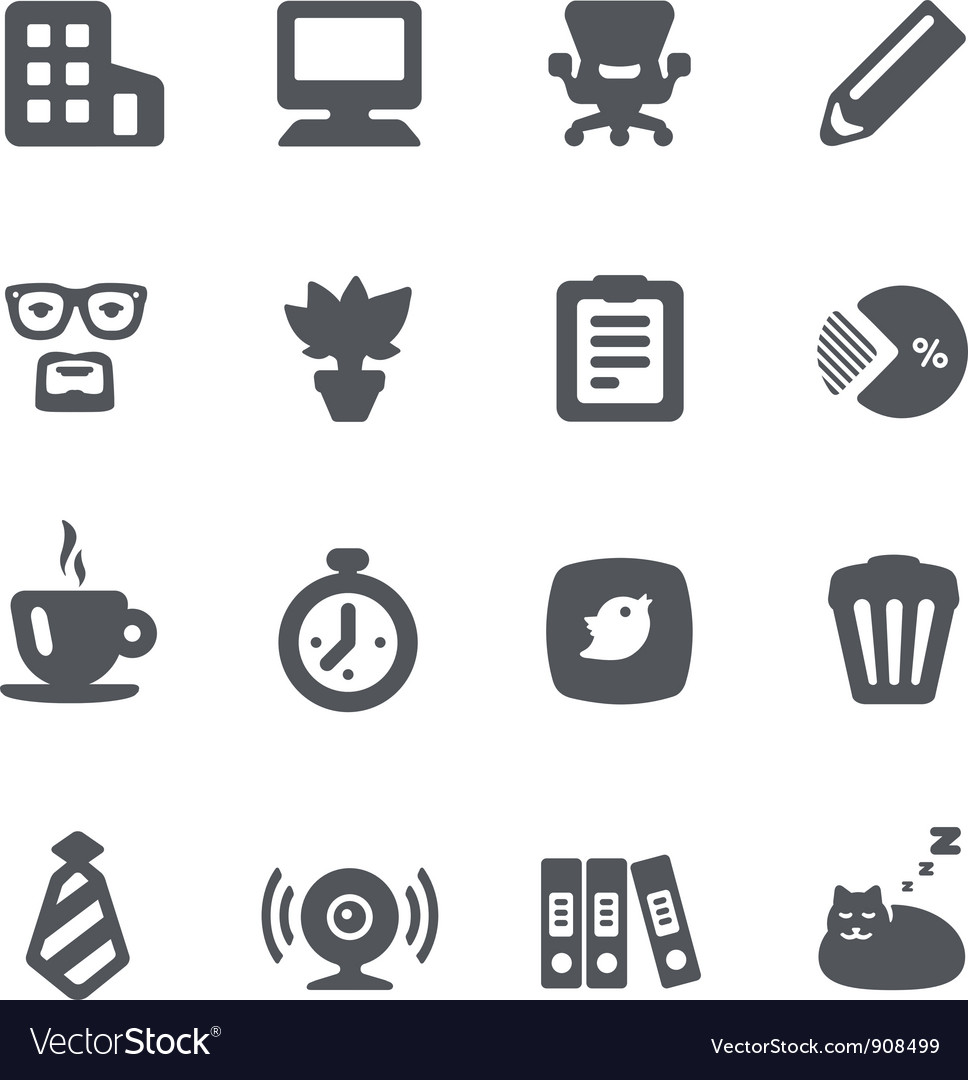 Home office icon set vector | Price: 1 Credit (USD $1)