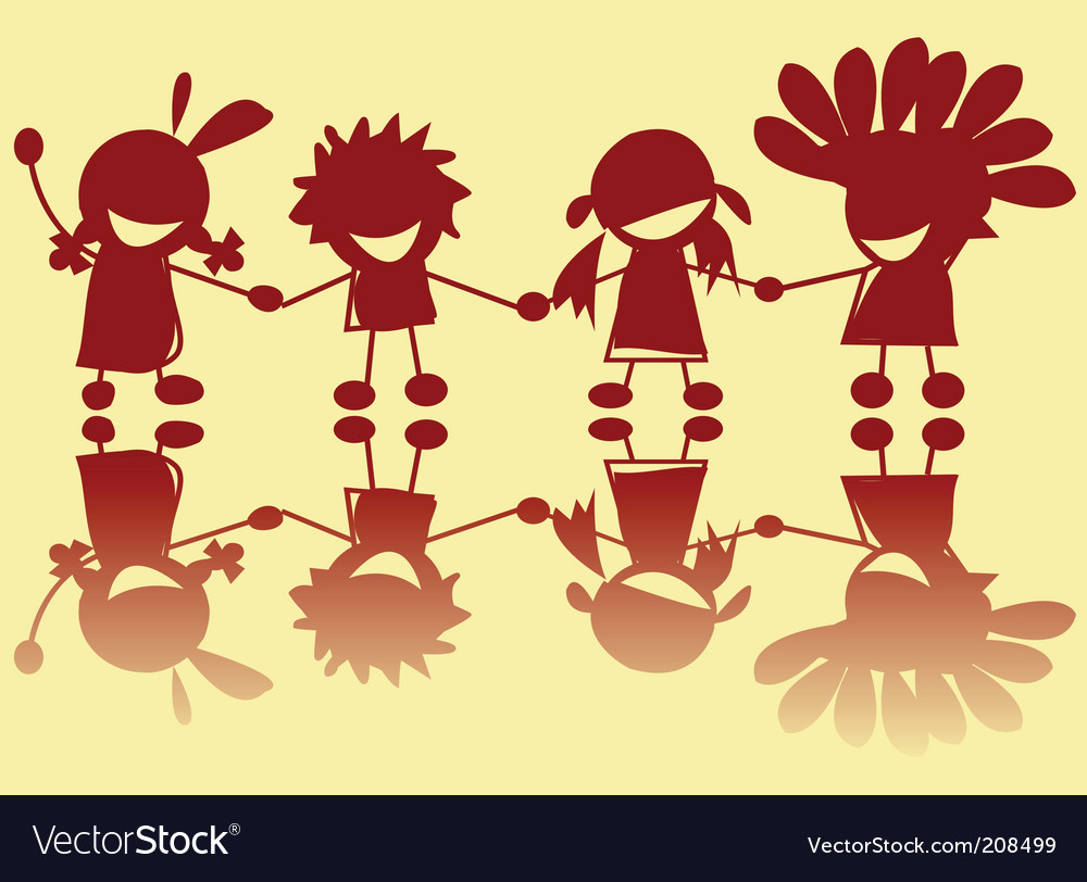 Little indians vector | Price: 1 Credit (USD $1)