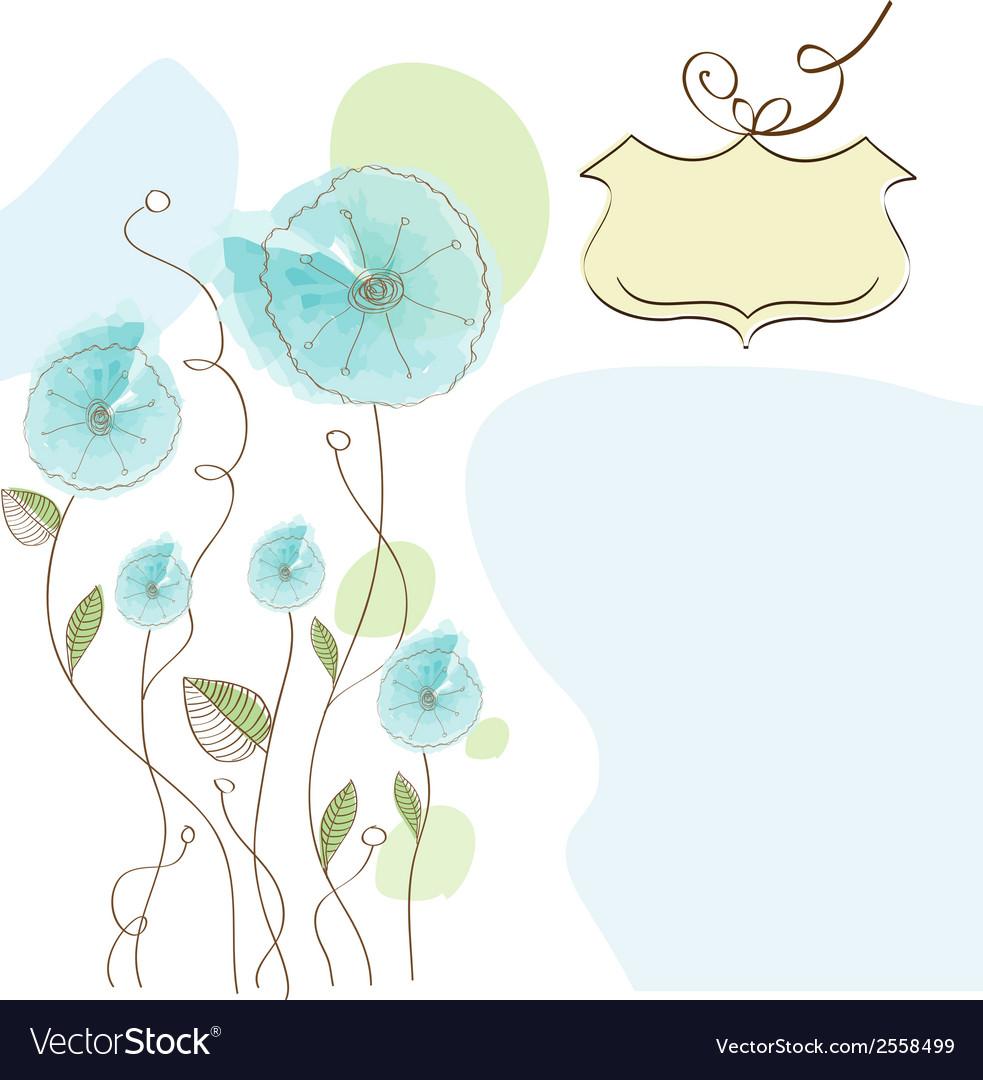 Romantic flowers background vector | Price: 1 Credit (USD $1)