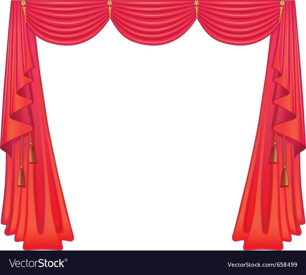 Scarlet curtains vector | Price: 1 Credit (USD $1)