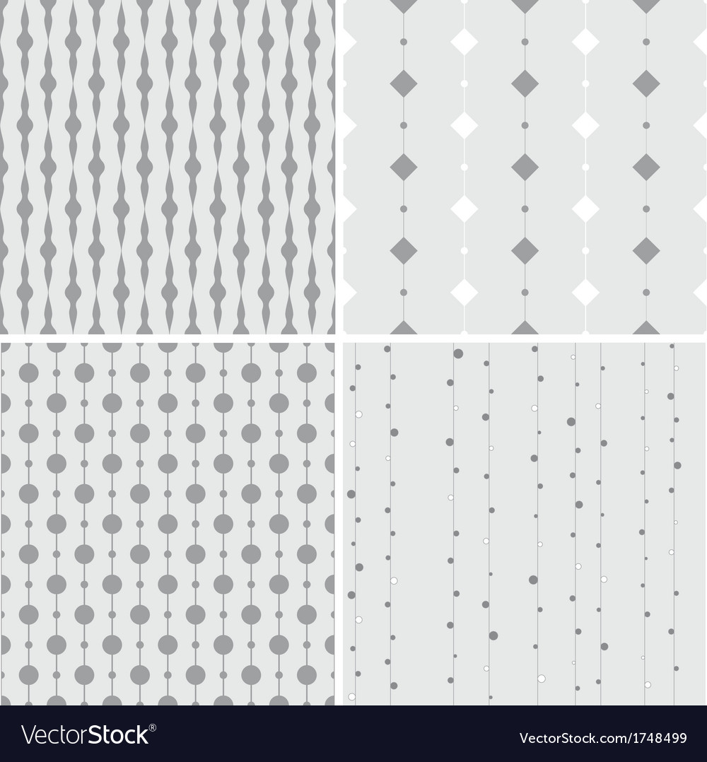 Seamless pattern with squares and circles on lines vector | Price: 1 Credit (USD $1)