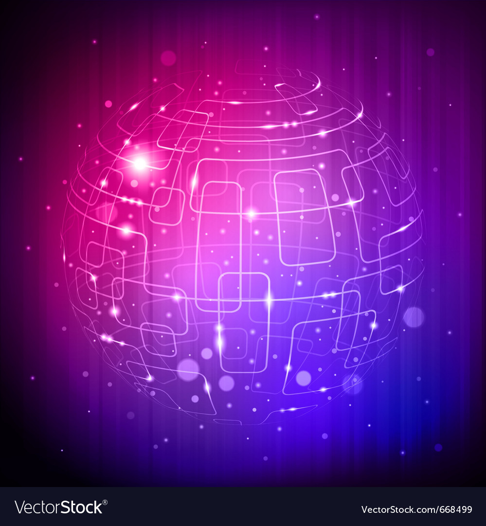 Tech sphere background vector | Price: 1 Credit (USD $1)
