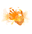 Red splatter handprint vector