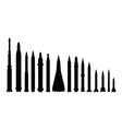 Set of combat rocket weapons vector