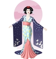 Retro character attractive japanese actress geisha vector