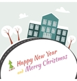 Happy new year end merry x-mas vector