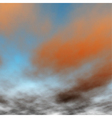 Orange sunset detail vector