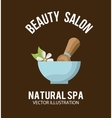 Natural spa design vector