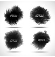 Set of black watercolor splatters vector