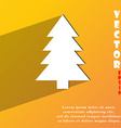 Christmas tree icon symbol flat modern web design vector