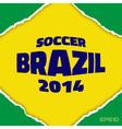 Frame flag of brazil vector